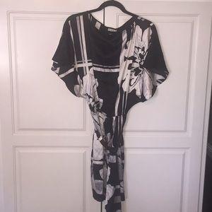 Cache Dolan kimono silk dress stretch